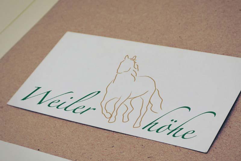Logodesign für den Pferdehof Weilerhöhe