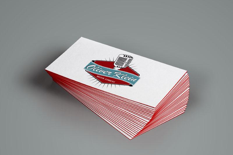 Visitenkarte Printdesign Logogestaltung Oliver Klein