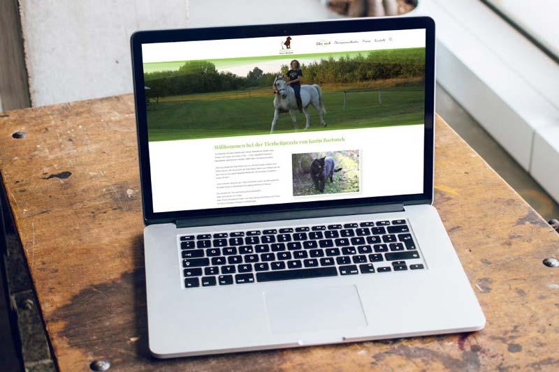 Webdesign der Webseite der Stuttgarter Tierheilpraxis