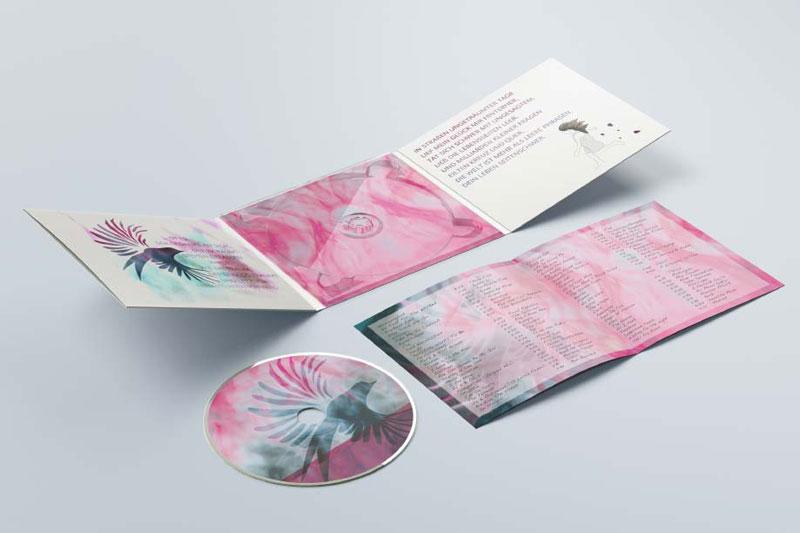 CD Cover Gestaltung des Booklets der CD Phoenix.