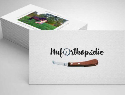 Logo-Design-grafische Gestaltung einer Geschaeftsaustattung-Huforthopaedie-Stuttgart
