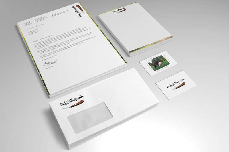 Grafische Gestaltung Geschäftsausstattung.