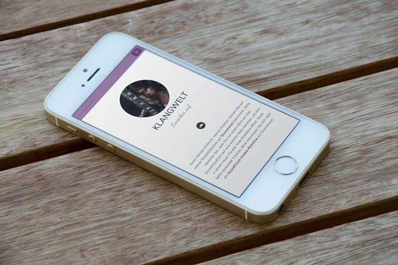 Ansicht der Webseite songpoetin auf Smartphone.